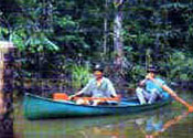 Rainforest Costa Rica: Canoeing on lagoons